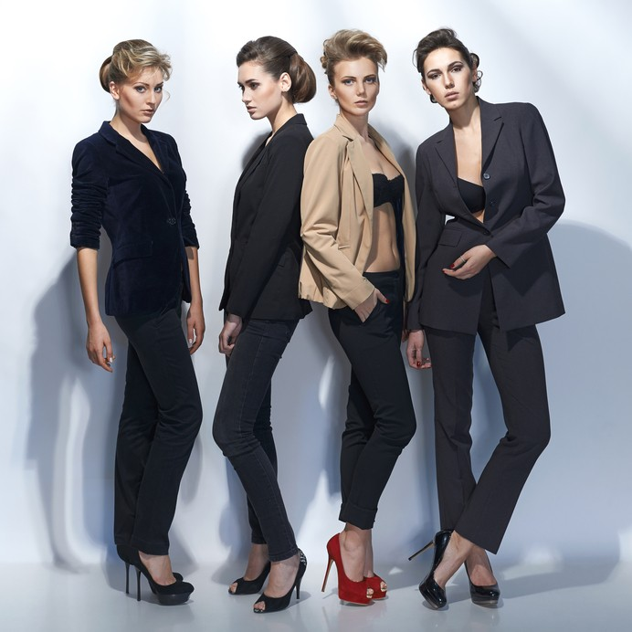 Models Standing Group